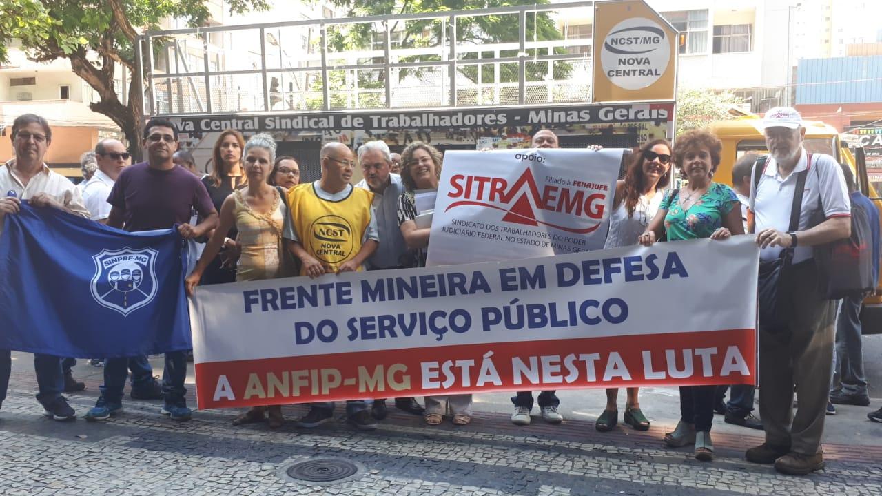 MG: ANFIP defende Previdência e Direitos Sociais em ato público